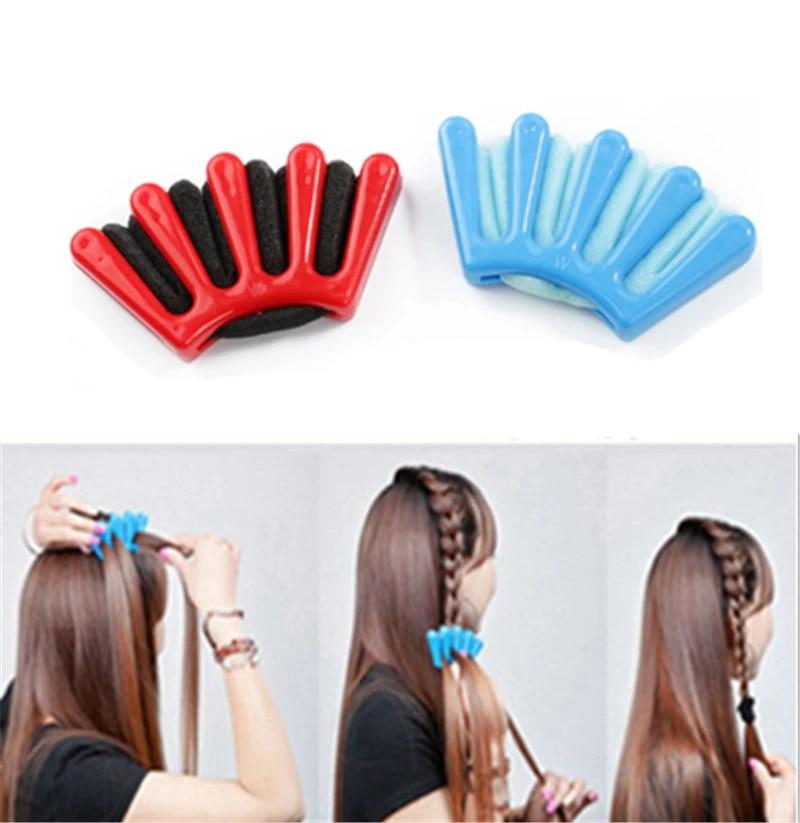 SN/_ Qu/_ Hair Braider Sponge French Braid Plait Twist Hair Styling DIY Tool Hol