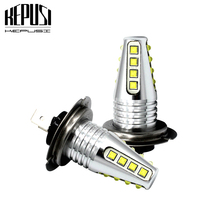 2x H7 LED Bulb Car Fog Lights cree chip 80w 12V 24V 6000K White Motor Truck DRL Driving Day Running Light Auto Led