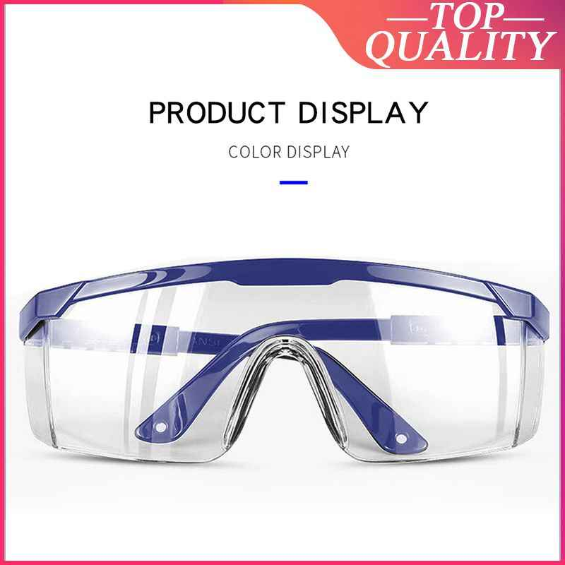 Safety Glasses Dust-Proof Glasses Working Glasses Lab Dental Eyewear Splash Protective Anti-Spitting Glasses PC Plastic Goggles