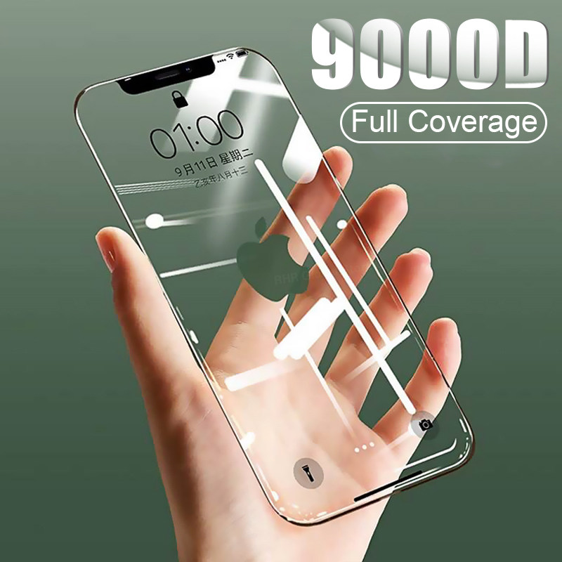 Curved Full Cover Tempered Glass on the For iPhone X XS Max XR Screen Protector Glass For iPhone 7 8 6 SE 2020 Plus 11 Pro Film