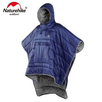 Naturehike Portable Water-resistant Camping Sleeping bag Cloak Style Lazy Sleeping Bag Winter Poncho NH18D010-P