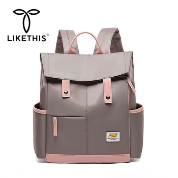 LIKETHIS Women Large Capacity Backpack Unisex Travel Bagpack Nursing Bag Rucksack Men Back Pack Bags Bolsas Mochila 2020 Рюкзак
