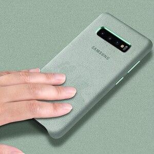 Image 4 - Samsung S10 Cassa Gazzetta Originale Vera Pelle Scamosciata di Cuoio di caso di samsung s10 plus caso della Protezione del telefono Per La Galassia S10e S10 + copertura