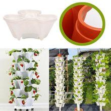 Stack-up-maceta estereoscópica de plástico, maceta Vertical apilable para flores, plantas, fresas, verduras, decoración @ A21