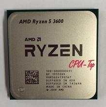 AMD Ryzen 5 3600 R5 3600 3.6 GHz 6 Core 12 ด้าย CPU โปรเซสเซอร์ 7NM 65W L3 = 32M 100 000000031 ซ็อกเก็ต AM4