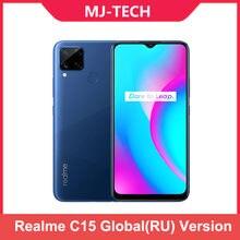 Realme C15 (RU) 4GB RAM 64GB ROM 6000mAh Große Batterie Schnell Ladung handy 6,5 zoll Redmi handy