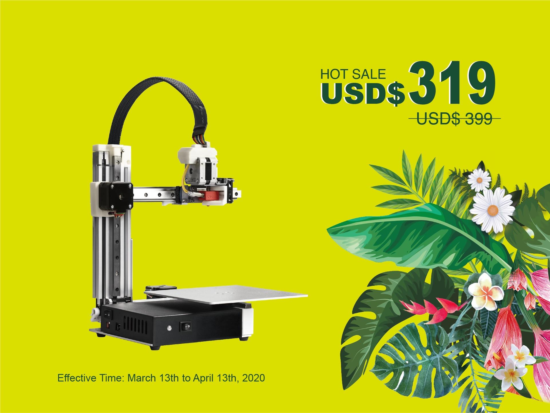 Tiertime MK3 FDM 3D Drucker, Standard Version