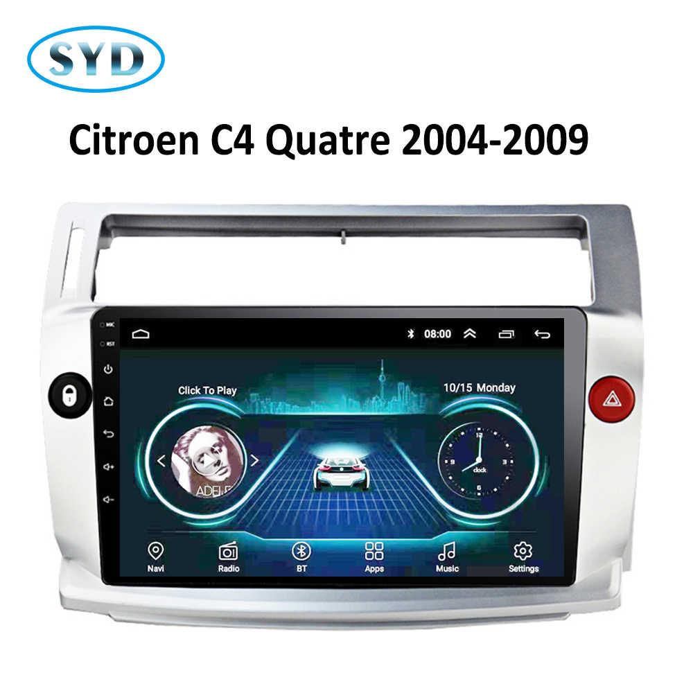 車ラジオシトロエン C4 C-Triomphe で C-キャトル 2004 2005 2006-2009 GPS ナビ DVD プレーヤーアンドロイド 8.1 Carplay SWC FM テレビ