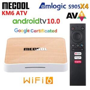 Приставка Смарт-ТВ Mecool KM6 A TV Amlogic S905X4 AV1 Android 10 4 Гб ОЗУ 64 Гб ПЗУ 2,4G 5G WiFi 6 Bluetooth 4K HD ТВ-приставка 2 Гб 16 Гб