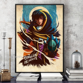 Home Decor Wall Art Code Geass Posters Vintage Canvas Print Poster Anime Poster Bar Decor Paintings No Frame 1