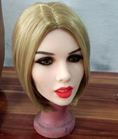 NEW ARRIVAL TPE sex doll HEAD lifelike realistic silicone sex love doll HEAD Sexy with Short blonde hair
