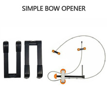 Archery Compound Bow Durable Metal Portable Press Quad Bracket Set Bow Opening Device Outdoor Shooting Hunting Tool Bow Opener