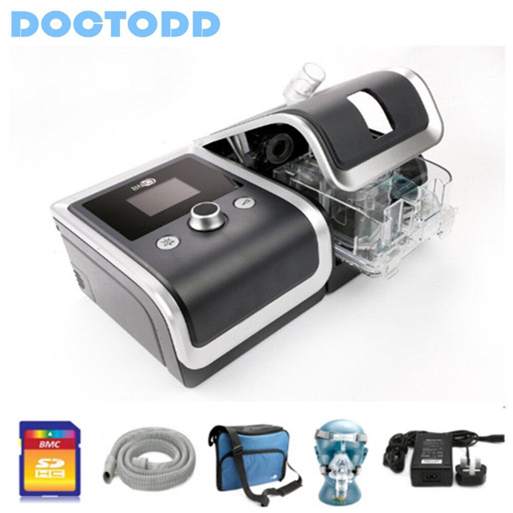 Máquina de cpap protable dos cuidados médicos de doctodd gii cpap para o anti ventilador de ronco copd cpap com 4g cartão de memória cpap com peças livres