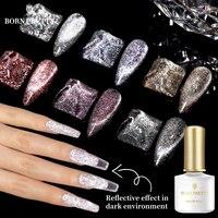 Nacido bastante Gel de esmalte de uñas de Holo purpurina reflectante gato magnético Gel 6ml Auroras efecto láser empapa Gel LED UV todos para uñas