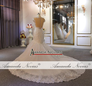 Image 4 - New model special lace full beading wedding dress mermaid wedding gown real work