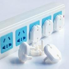 Elektrische Sicherheit Anti-Elektrische Schlag Buchse Abdeckung Baby Runde 2 Phase Power Loch Schutz Kind White2020
