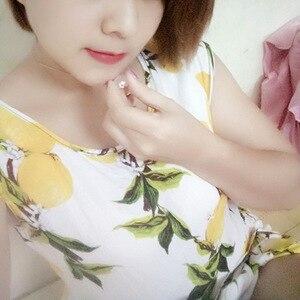 Image 3 - Ruifan forma de maçã natural rosa quartzo branco/rosa ouro 925 prata esterlina mulher pingentes link corrente colares jóias ync092