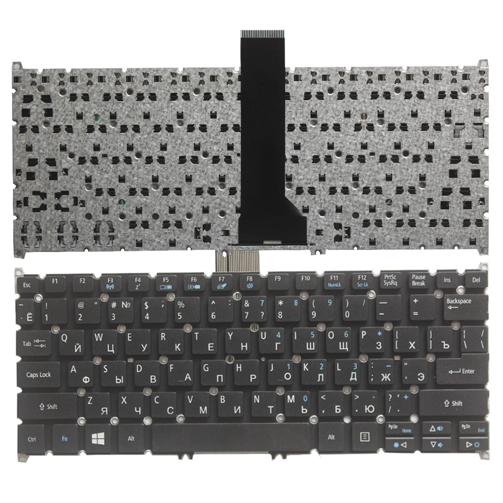 NEW Russian Keyboard For Acer Aspire E3 111 C5SW V5-122 122P V5-132 132P V13 V3-371 E11 E3-112 E3-111 RU Laptop Keyboard
