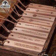 Mr Paper 8 Designed Da Vinci Series Cipher Key Wooden Rubber Stamp For Scrapbook Decoration DIY Craft Standard Wooden Stamp