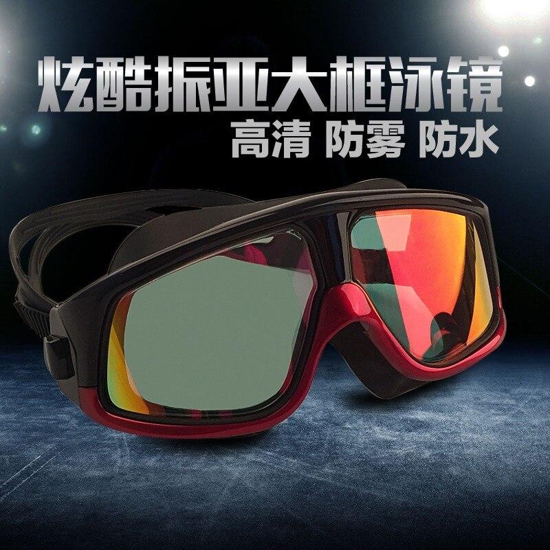 prova dwaterproof água sete cores revestido hd óculos de natação