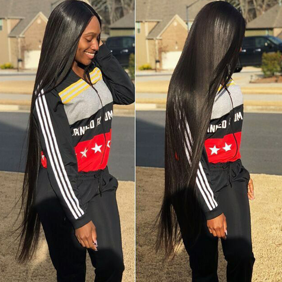 30 Inch Bundles Straight Indian Hair With Closure Indian Human Hair Bundles  With Closure Remy Hair Extensions