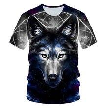 Горячая Распродажа 3d футболка с волчьим узором мужская Новинка
