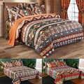 Mandala Satin ensemble de trois ensembles de literie drap de lit housse de couette ensemble de taies d'oreiller lit coloré couette pour chambre