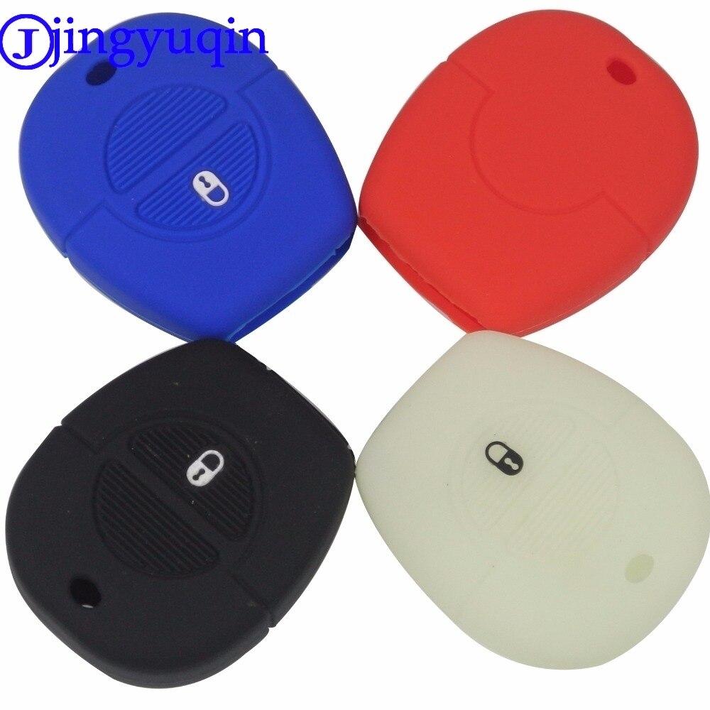 Jingyuqin New Remote 2 Buttons Silicone Rubber Key Fob Cover Case For Nissan Micra Almera Primera X-Trail