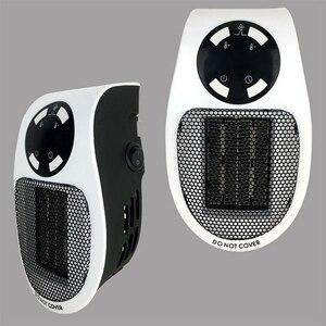 Image 5 - 22%, uzaktan elektrikli Handy isıtıcı 10A 220V 500W hızlı isıtma Mini masaüstü duvar soba radyatör ısıtıcı makinesi