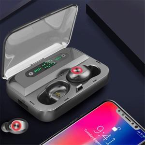 Image 3 - Led ディスプレイ 1200mA 電源銀行ワイヤレス Bluetooth 5.0 イヤホン防水イヤフォン 5D ステレオ Bluetooth すべてのスマートフォン