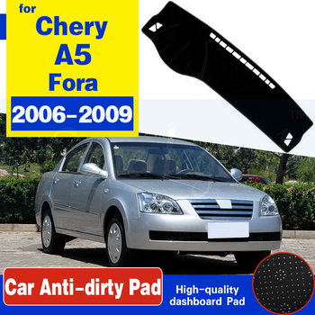 For Chery A5 Fora Alia Elara MVM 520 530 Vortex Estina Anti-Slip Mat Dashboard Cover Pad Sunshade Dashmat Carpet Car Accessories image