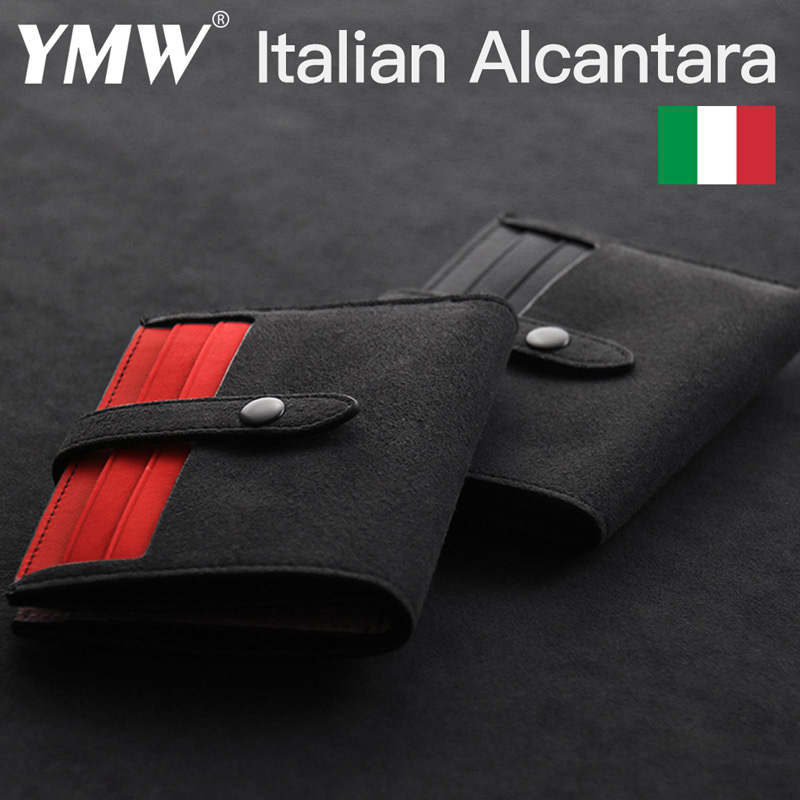 YMW ALCANTARA Card Holder Women & Man Luxury Artificial Leather Genuine Leather Slim Card Wallet Small Thin Card Package