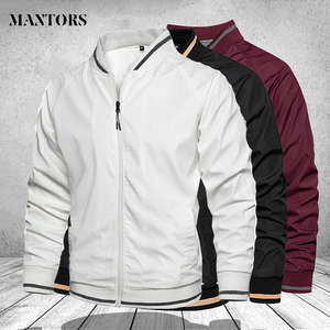 Men's Jackets Casual Autumn Winter Mens Solid Sports Bomber Jackets Slim Fit Stand Collar Fashion Baseball Coats Mens Clothing