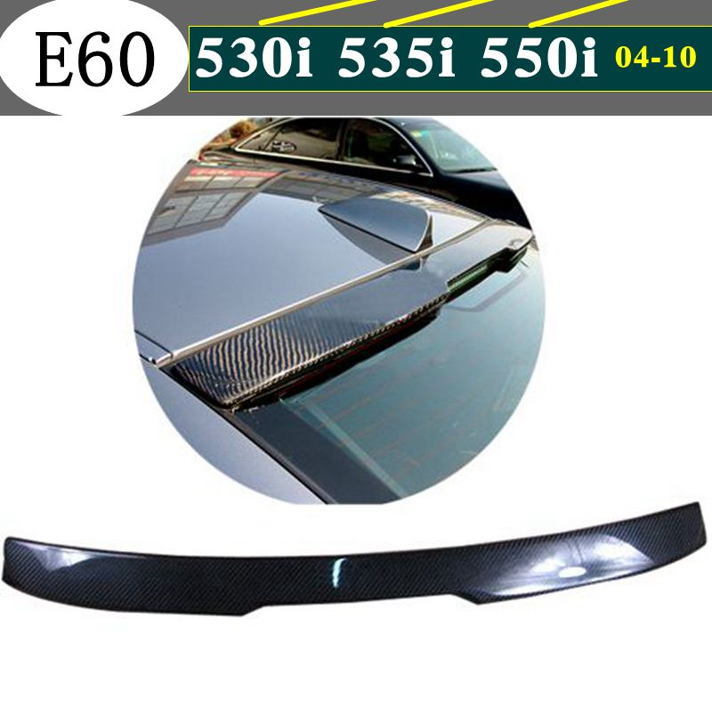 E60 Carbon Fiber AC Style Rear Roof Spoiler for BMW E60 <font><b>5</b></font> Series <font><b>2004</b></font> 2005 2006 2007 2008 2009 image