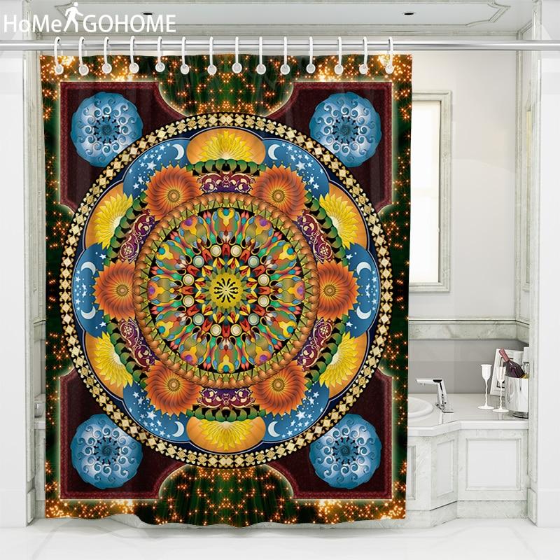 Kaleidoscope Mandala Shower Curtain 3D Waterproof For Bathroom Bath Fabric for Bathtub Douchegordijn