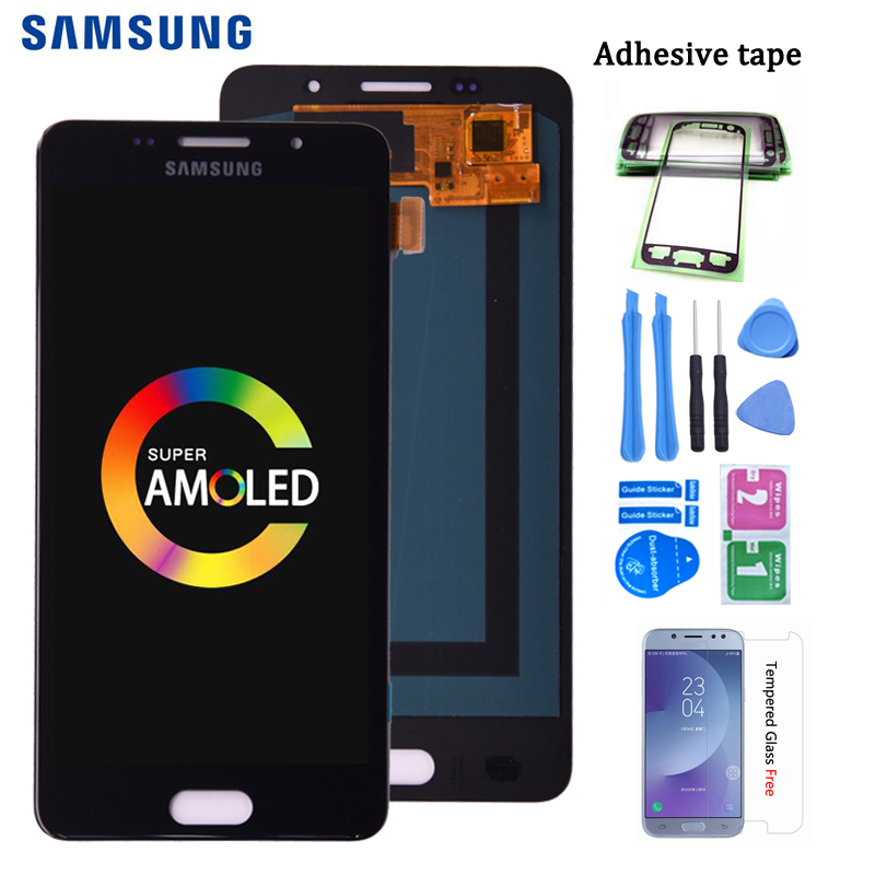 Super AMOLED LCD For <font><b>SAMSUNG</b></font> GALAXY A5 2016 Duos A510 <font><b>A510F</b></font> A5100 LCD <font><b>Display</b></font> Touch Screen Digitizer Assembly image