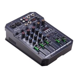 Image 4 - Muslady T4 Portatile 4 Channel Scheda Audio Mixing Console Mixer Audio Supporta Connessione BT Lettore MP3 Funzione di Registrazione per DJ