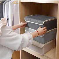 13 Grip Unterwäsche Lagerung Box Mit Abdeckung leinen Faltbare Divider Schublade Folding Kästen Krawatte Socken Unterwäsche Organizer Box