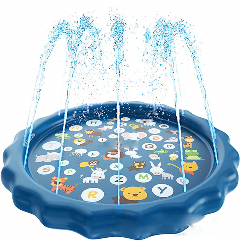 170cm Round Summer Inflatable Children's Animal Play Water Games Beach Mat Spray Water Lawn Sprinkler Cushion Toys Pad For Baby