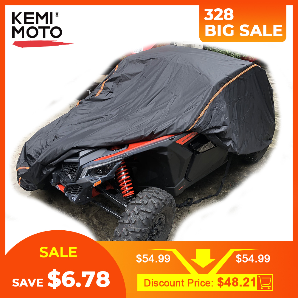 UTV 210D Oxford Cloth Protect Utility Vehicle Storage Cover From Rain Dirt Rays-Reflective For Can Am Maverick X3 X 2015-2019