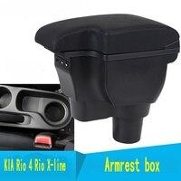 Para kia rio 4 rio x-line caixa de apoio de braço loja central caixa de conteúdo carro-estilo acessórios