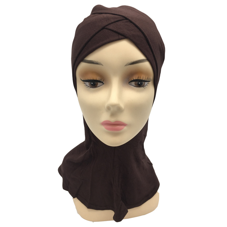 Image 4 - Retail two layers Double crossover muslim Cotton ninja underscarfIslamic Clothing