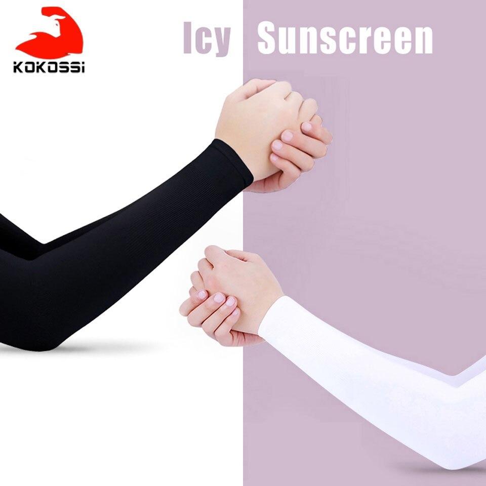 KoKossi 1 Paar Männer Frauen Arm Ärmeln Sun UV Schutz Ice Cool Arm Abdeckung Arm Wärmer für Radfahren Angeln Laufen klettern Sport