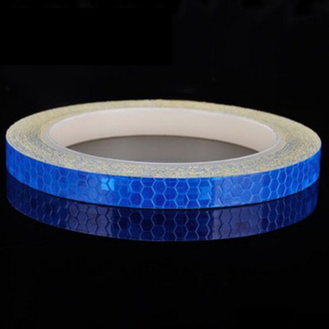 Reflective Tape Stickers Fluorescent MTB Bicycle Bike Adhesive Motorcycle S5D8