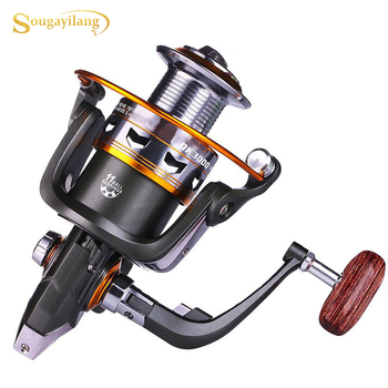 Sougayilang 11 Ball Bearing Spinning Fishing Reel 5.2 : 1 High Speed Gear Ratio Right/left Inter-changeable Handle Fishing Wheel
