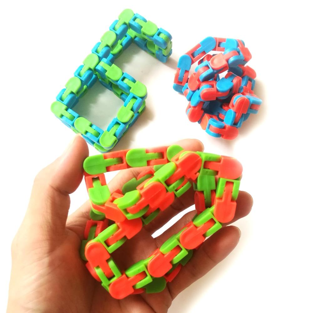 Toy Chain Bracelet Fidget Spinner Anti-Stress Adult Educatiaonal-Toys Children for Kids