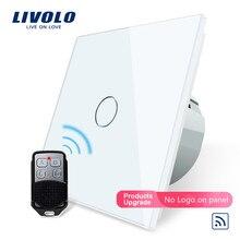 цена на Livolo EU Standard Remote Switch, 220~250V Wall Light Remote Touch Switch VL-C701R-11 With Mini Remote Controller RT12