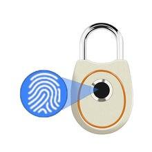 Cerradura de puerta biométrica eléctrica portátil, dispositivo de bloqueo de huella digital inteligente, recargable vía USB, IP65, impermeable, para bolsa de Puerta del hogar, funda de equipaje