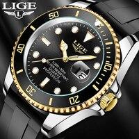 LIGE-reloj analógico de acero inoxidable para hombre, accesorio de pulsera de cuarzo resistente al agua con fecha de 24 horas, complemento Masculino de marca de lujo perfecto para negocios