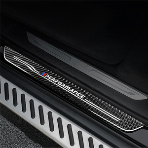 Image 4 - Autodeur Pedalen Sill Scuff Plaat Kant Welkom Panel Stickers Innerlijke Decoratie Voor Bmw X1 X3 X5 X6 E60 E90 f25 F30 F32 F34 F35